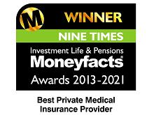 MoneyFacts Awards logo - Winner Best Private Medical Insurance Provider