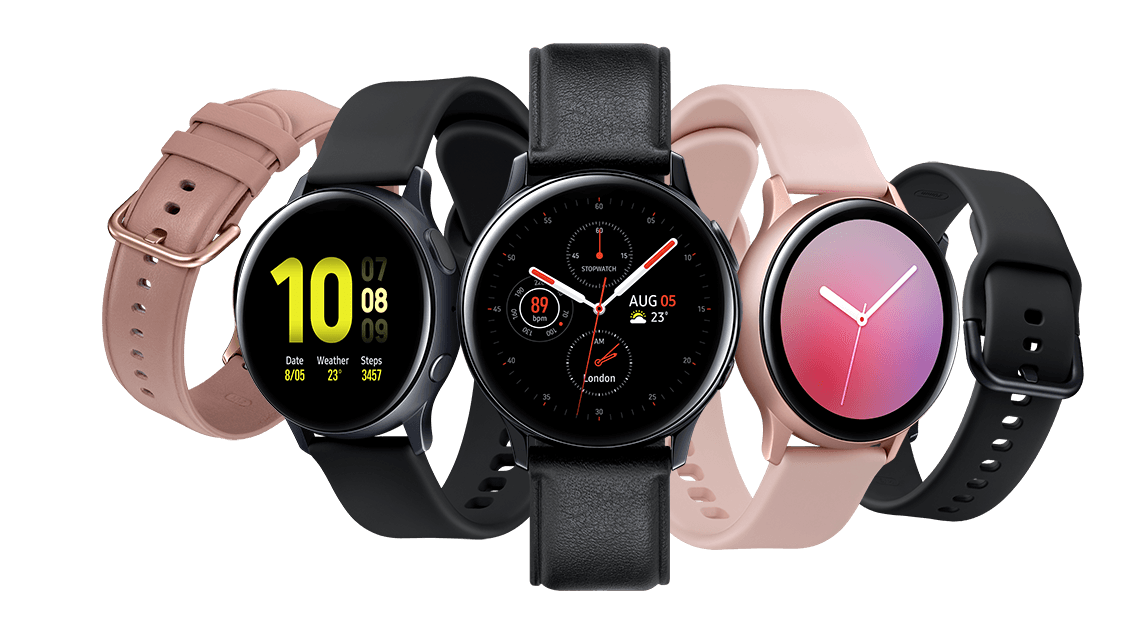 Image showing range of Galaxy Watch Active2 colour options