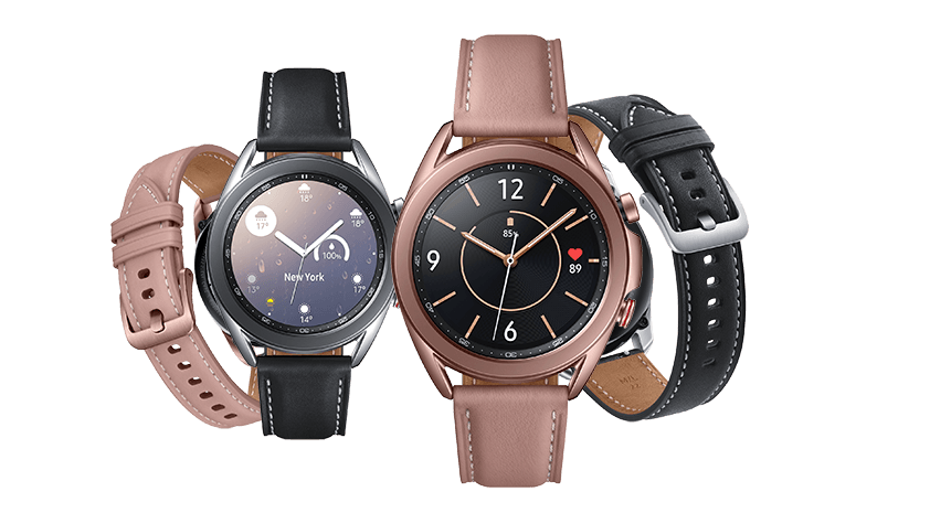 Image showing range of Galaxy Watch3 colour options