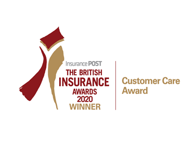 red and gold logo for British insurance awards