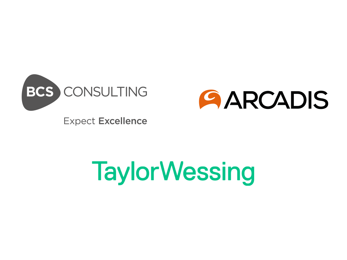 BCS Consulting, Taylor Wessing and Acardis UK (Holdings) Limited logos