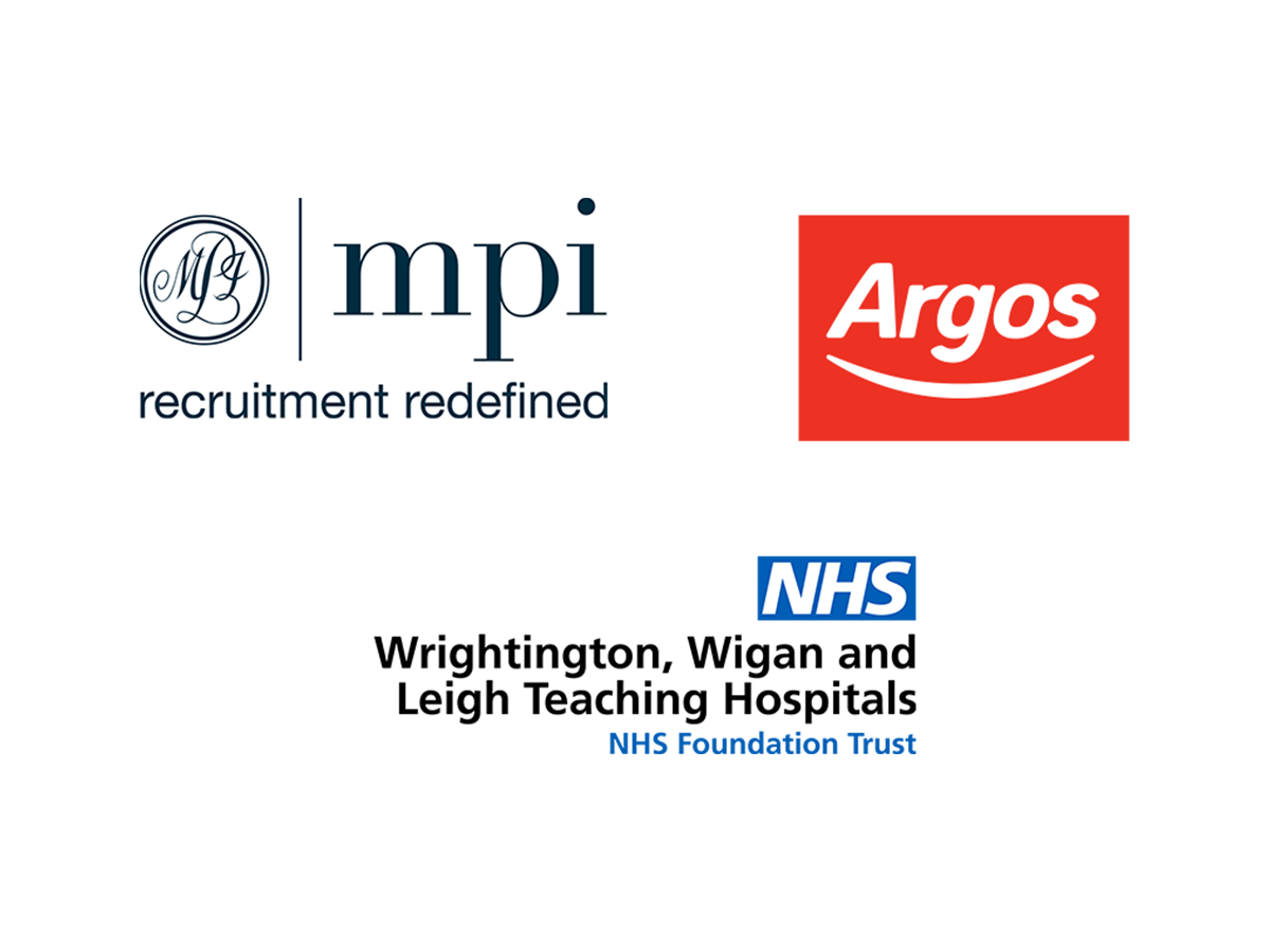 MPI Limited, Argos Financial Services and Wrightington Wigan and Leigh NHS Foundation Trust logos