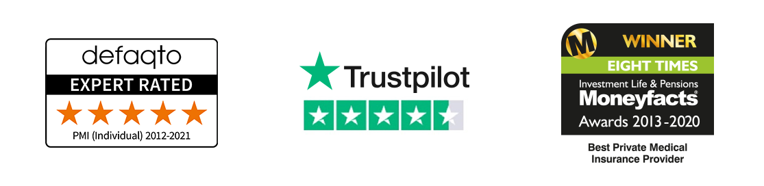 Our health insurance is 5 Star rated by Defaqto, and 4.5 star rated on Trustpilot