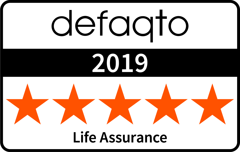 Life Assurance Defaqto Rating 5 Stars Colour 2019
