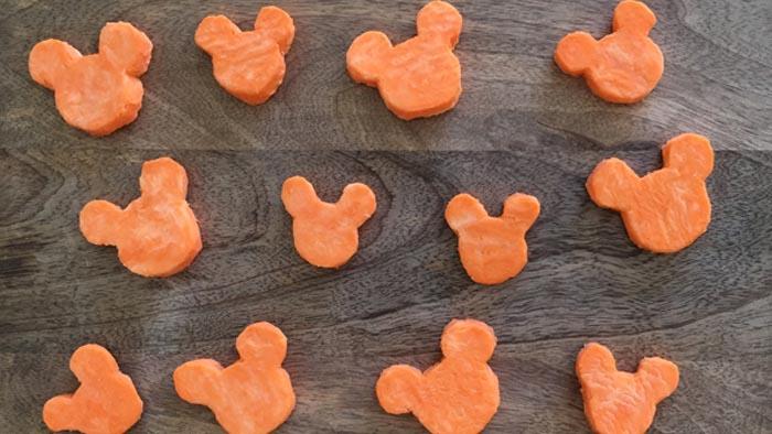 Mickey Mouse Shaped Sweet Potatos