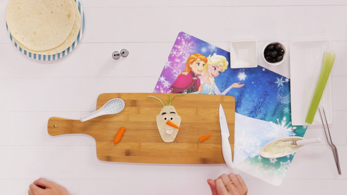 making olaf bento box