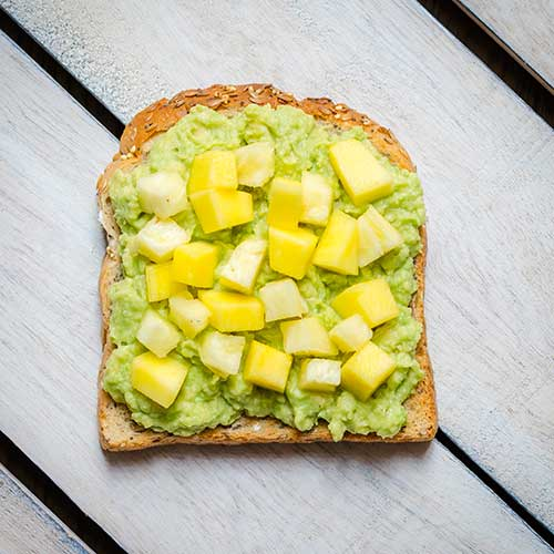 tropical fruit toast