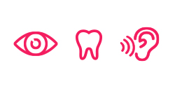 Optical, dental and hearing icon