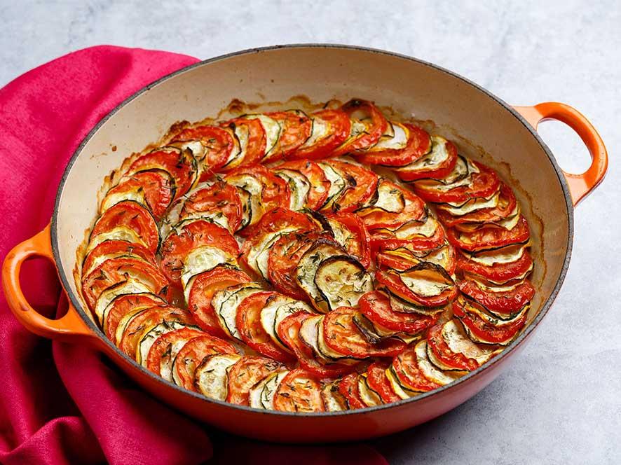 Courgette and tomato gratin