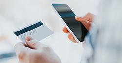 Entering credit card details on mobile