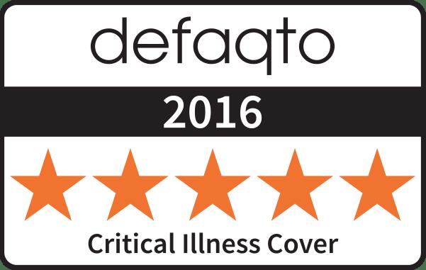 Defaqto 5 star Critical Illness Cover award