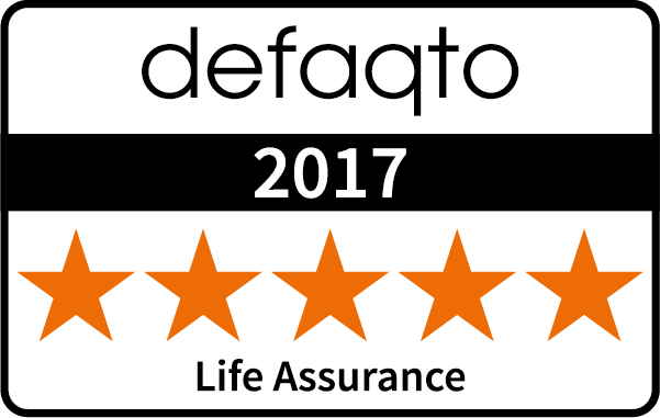 Five star Defaqto rating Life Assurance