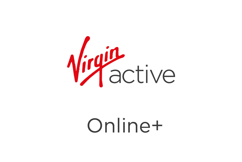 Decorative image of the Virgin Active Online+ Membership logo