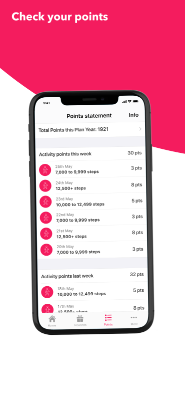 Keep up to date with your points