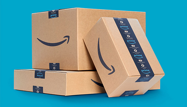 Stack of Amazon boxes