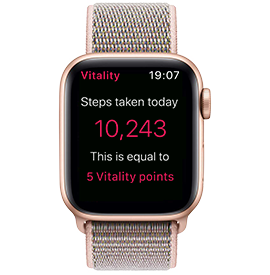 Apple Watch Series 4 Gold Aluminium case with Pink Sport Loop