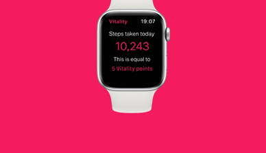 Apple Watch on a pink background