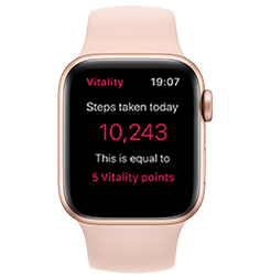 Apple Watch Series 4 GPS Gold with Pink Sand Sport Band