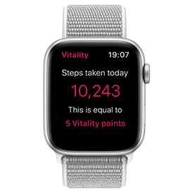 Apple Watch Series 4 GPS Silver with Seashell Sport Loop