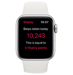 Apple Watch Series 4 Silver with White Sport Band