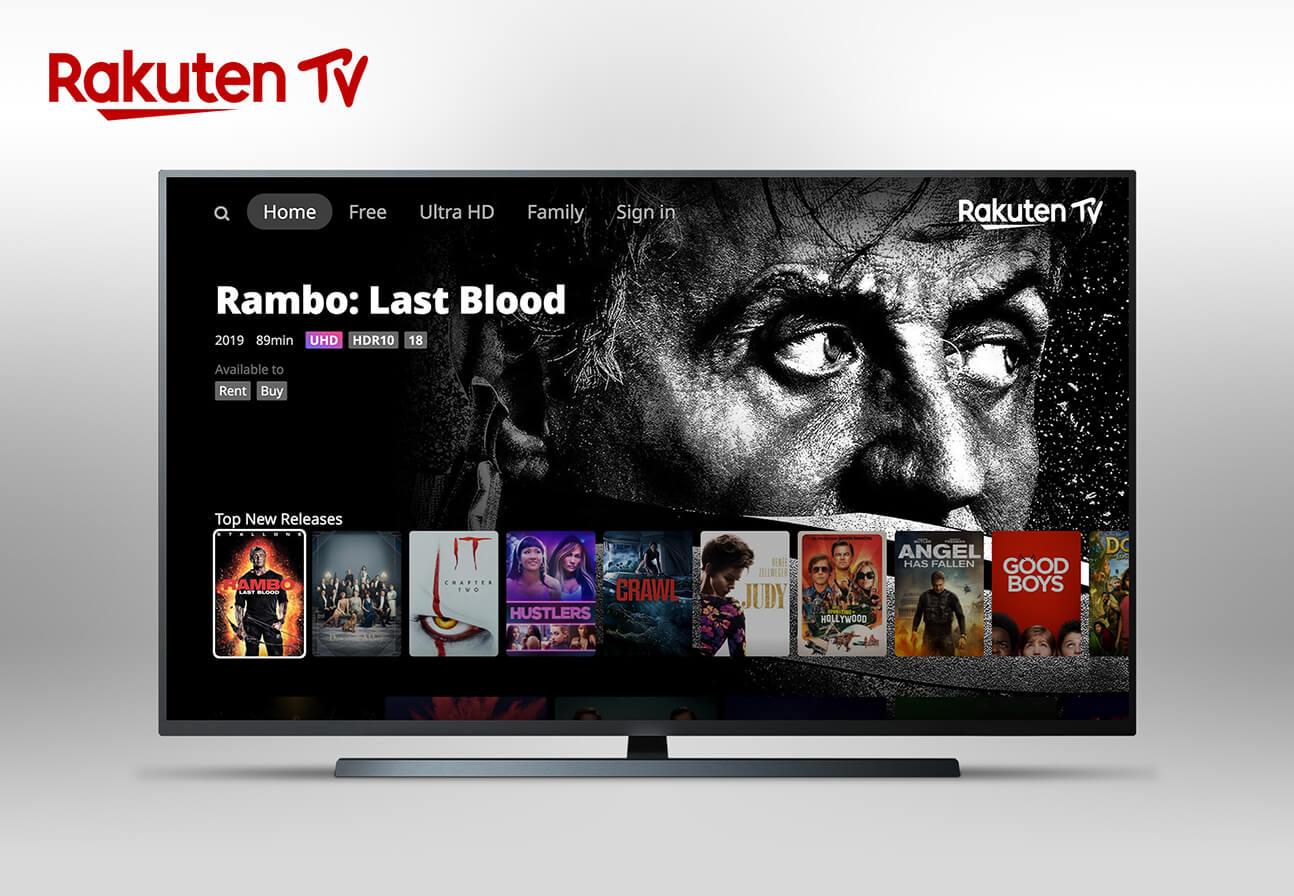 Image of Rakuten TV on screen