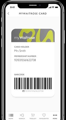 MyWaitrose card on phone