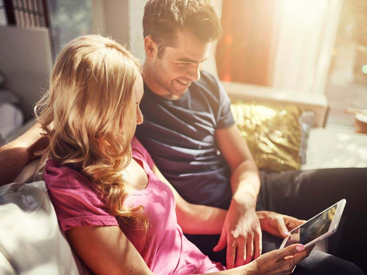 couple using an ipad