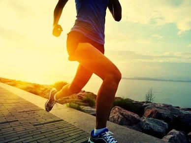running along the seaside