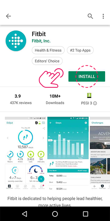 Download the Fitbit app