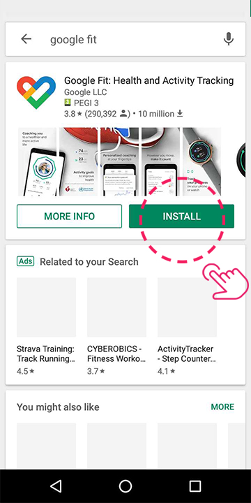 Download Google Fit from the play store