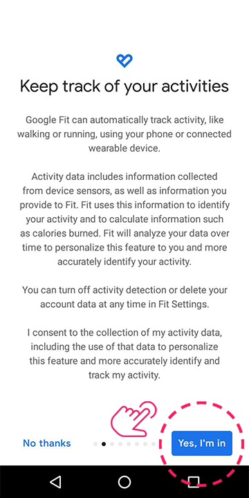 Allow Google to track your actvities