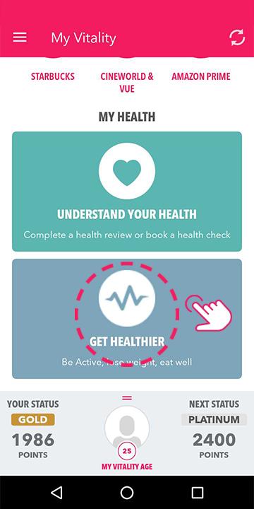 Tap 'Get healthier'