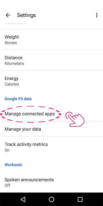 Check if third party apps are connected to Google Fit