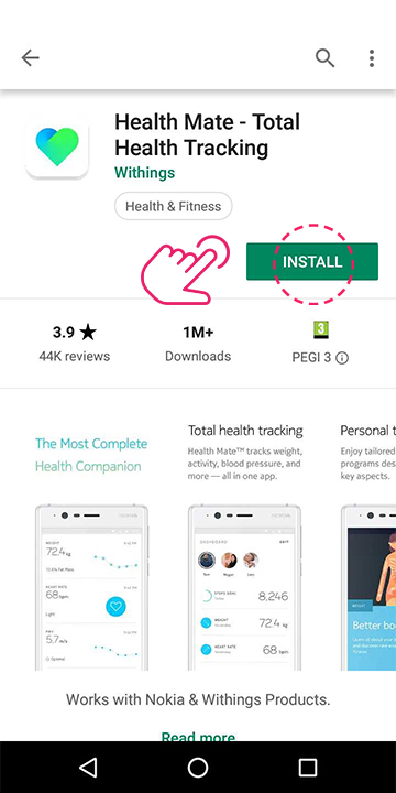 Download the Withings Health Mate app