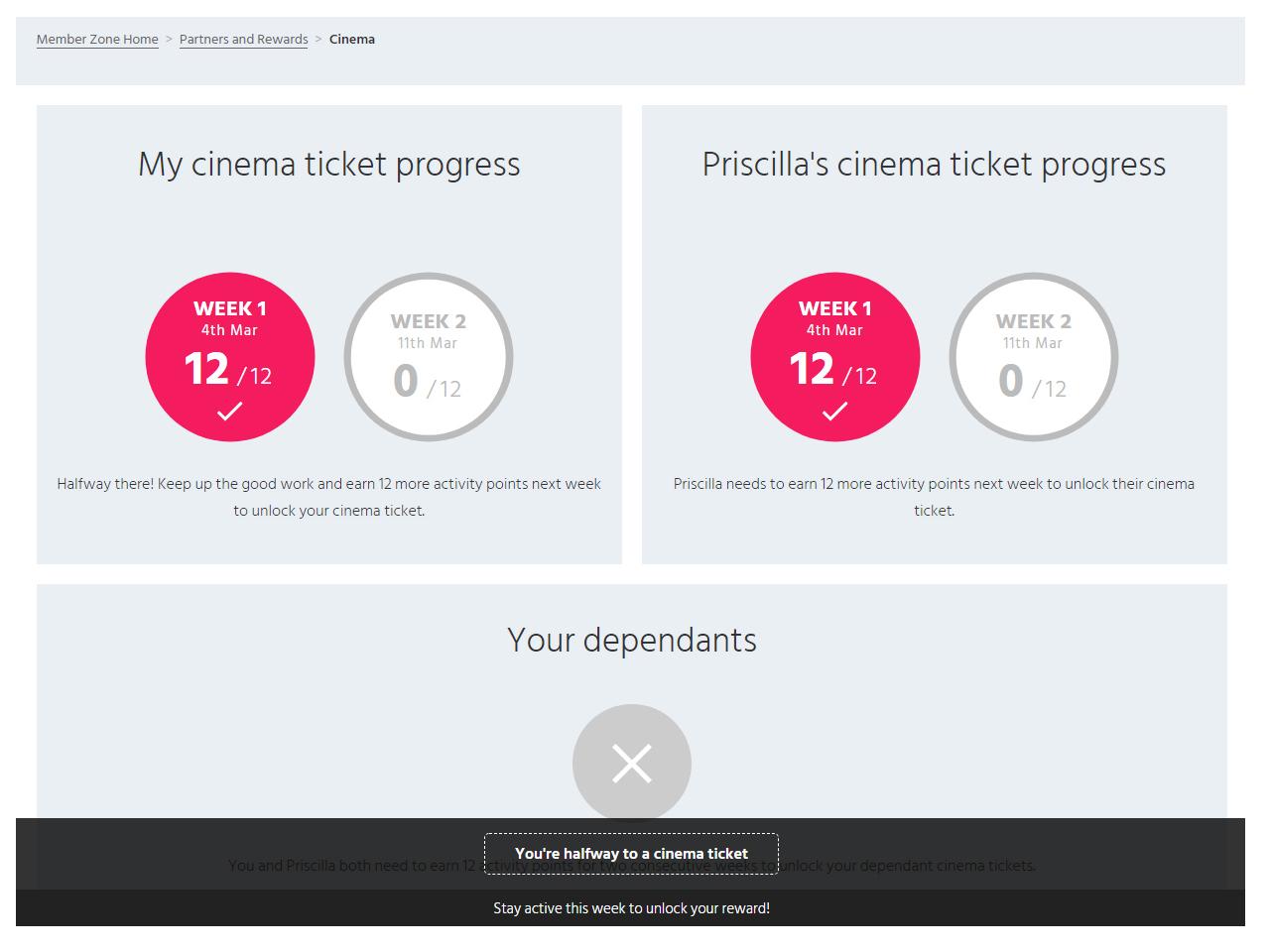 Member Zone cinema progress week one complete