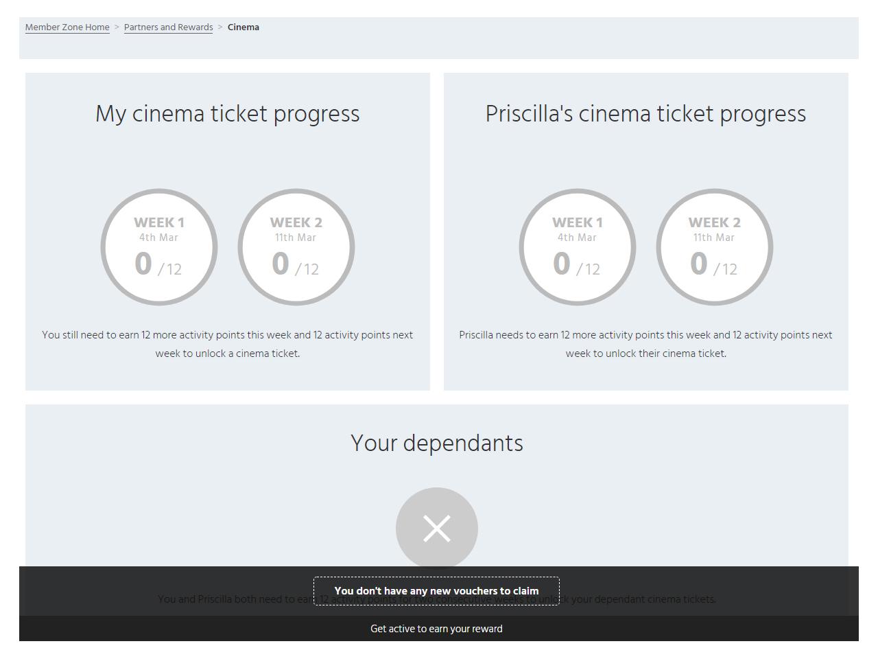 Member Zone cinema progress week one start