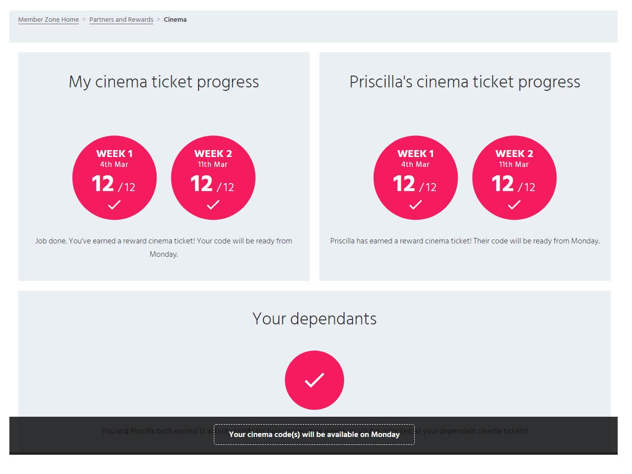 Member Zone cinema week two complete