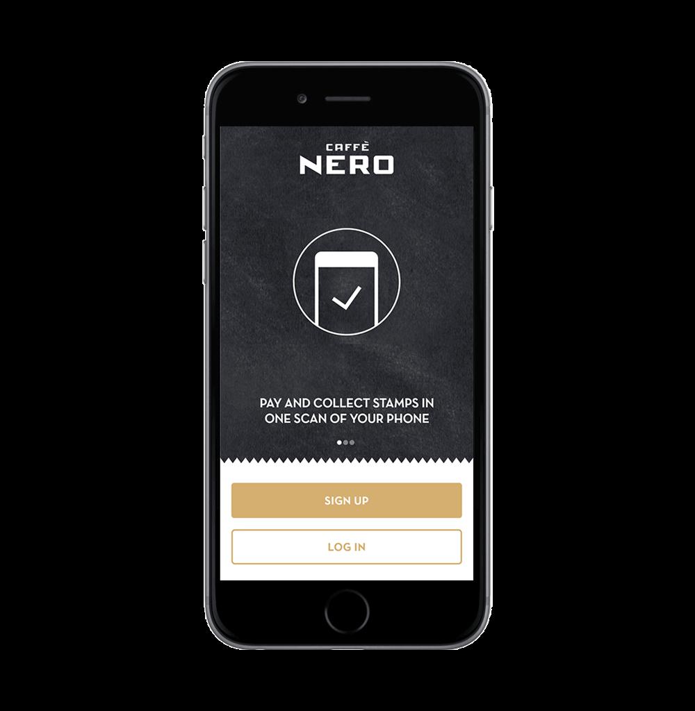 Step 1 create a Caffè Nero account