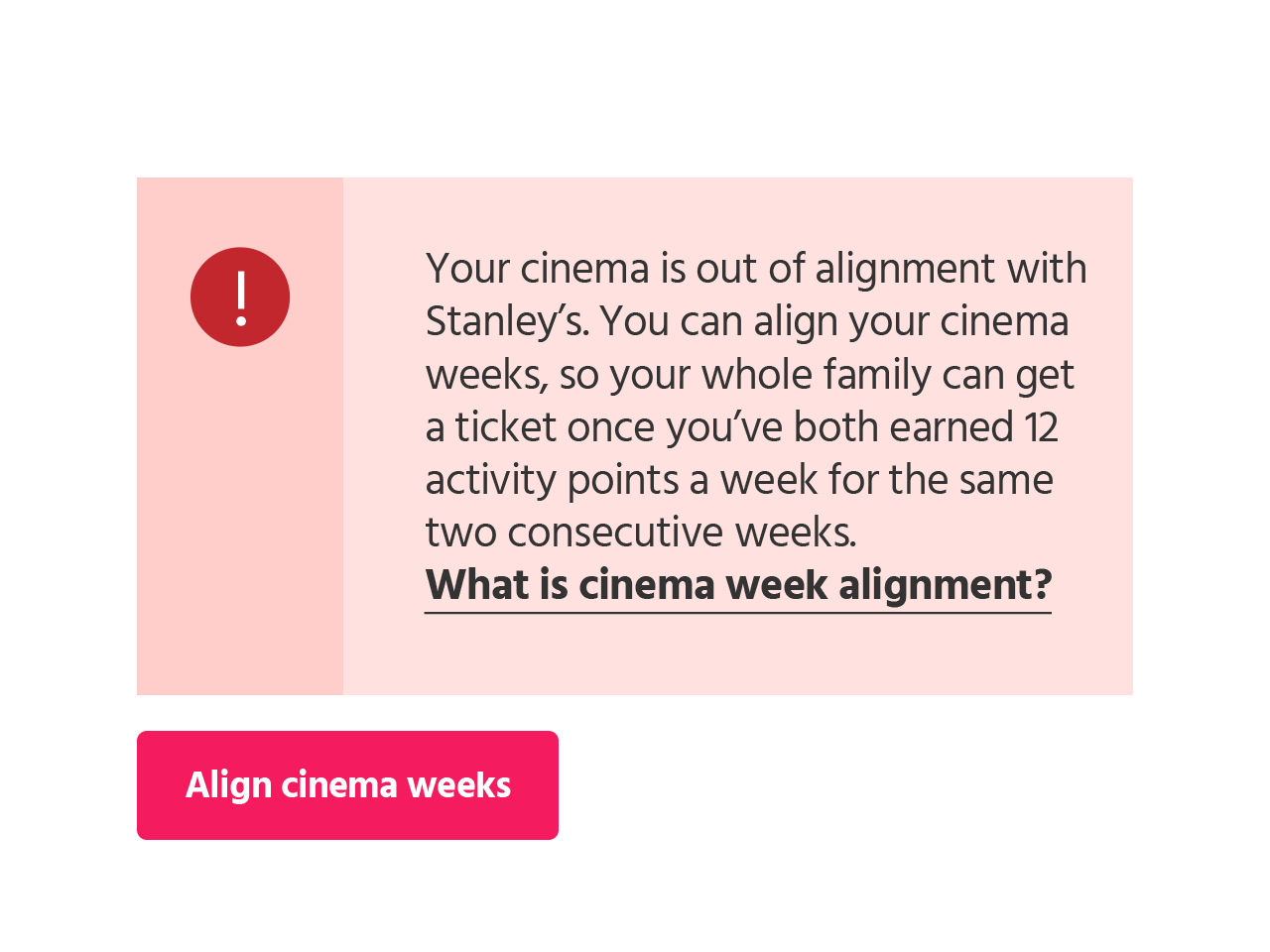 Align weeks button