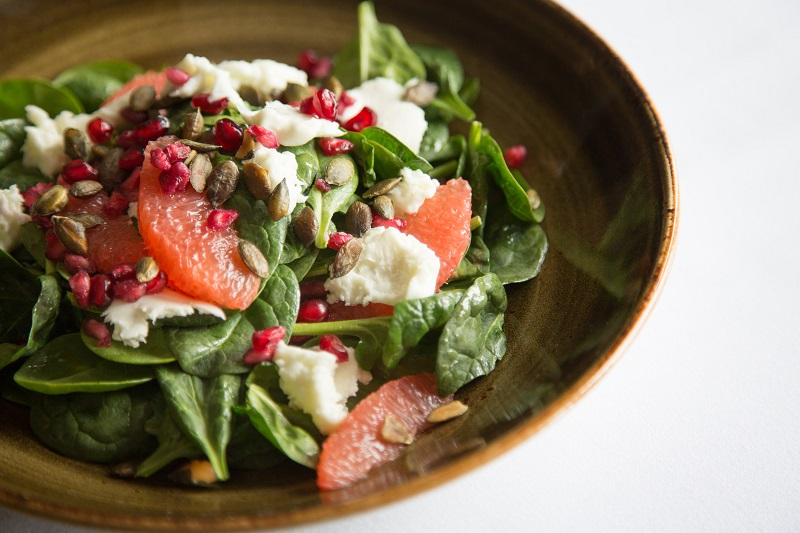 spinach buffalo grapefruit salad