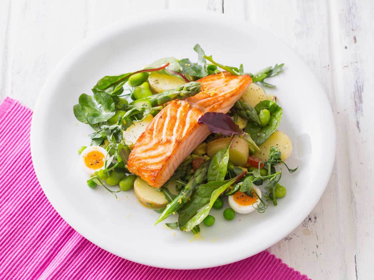 Slow baked salmon