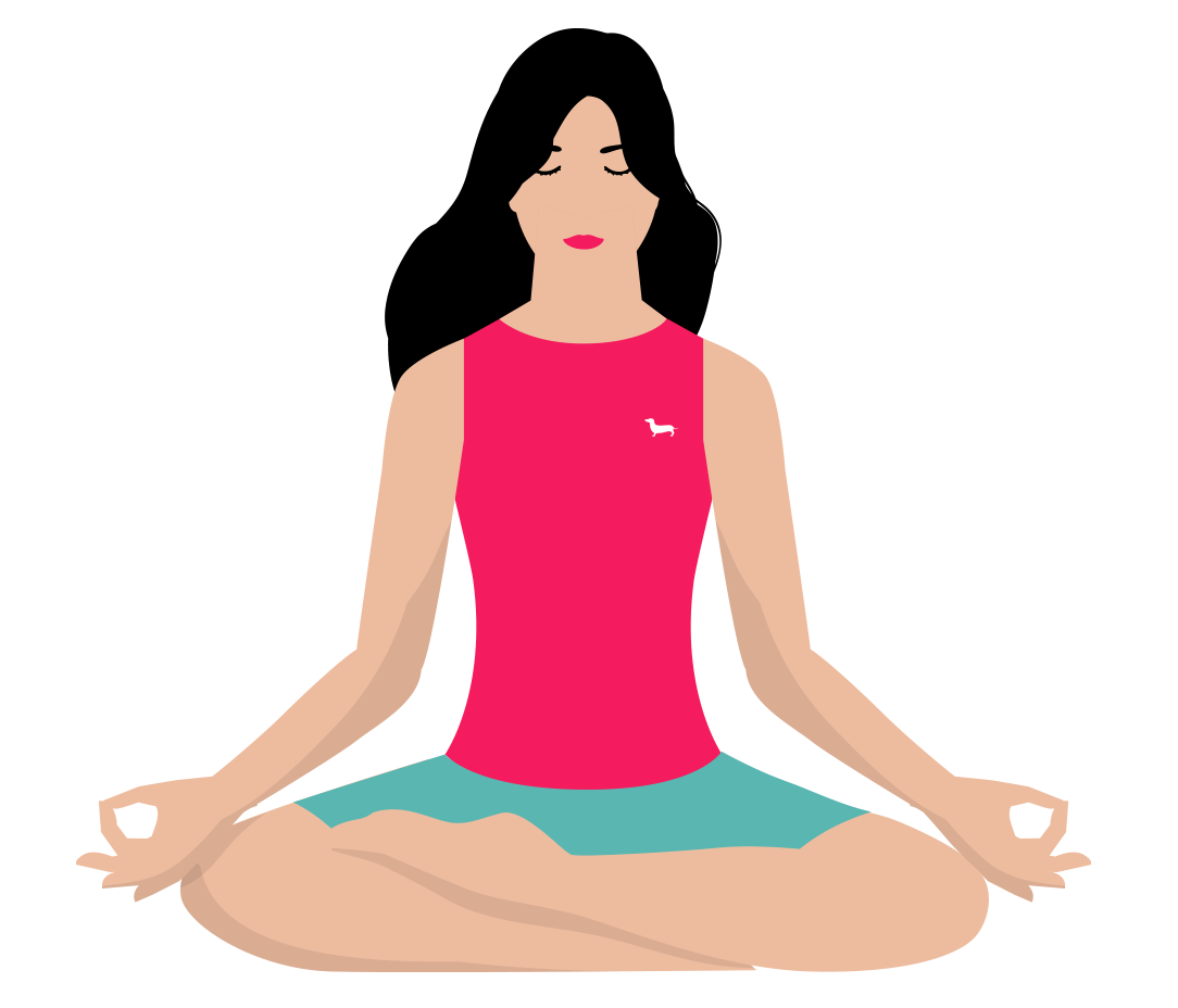 Meditating with the Headspace app