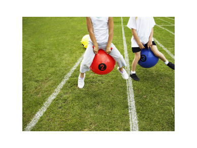 Bouncy ball race