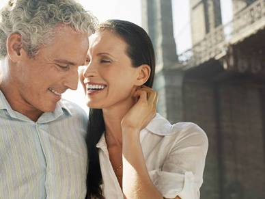 retired couple smiling