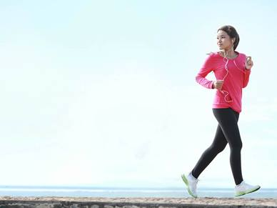 lady running with headphones
