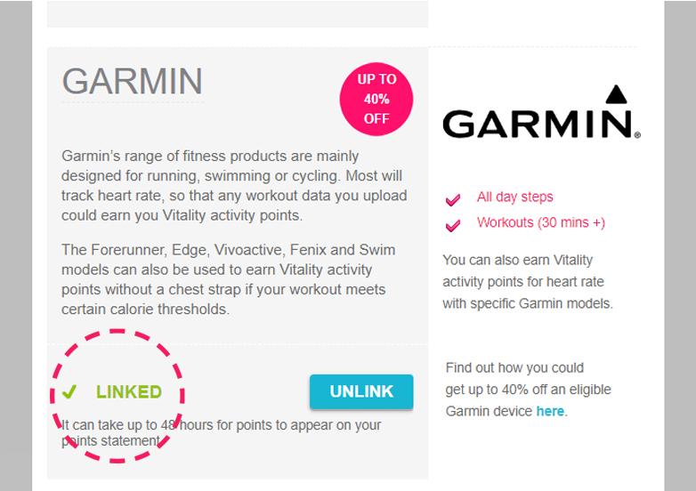 Garmin Linked