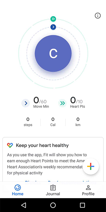 Complete Google Fit initial setup
