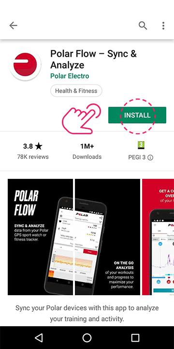 Download the Polar app