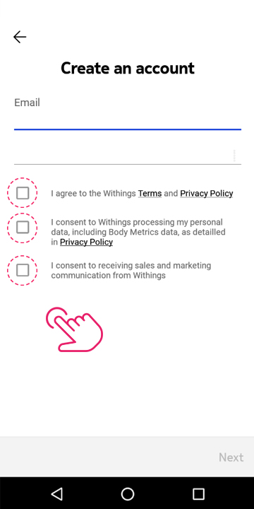 Create a Withings account