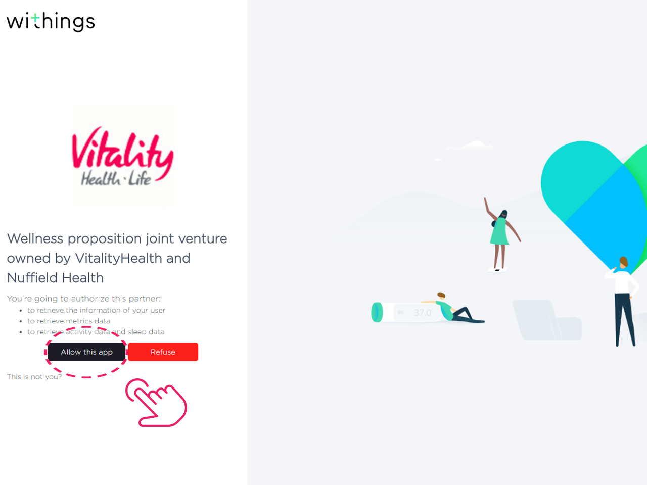 Allow Vitality to retrieve data from Withings